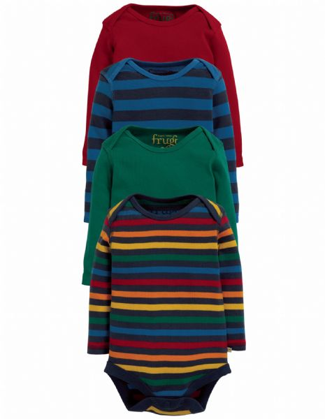 Frugi Over the Rainbow Body 4 pack Rainbow (AW19)